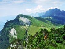 Tschugga peak or Tschugga Spitz in the Appenzell Alps mountain range. Canton of St. Gallen, Switzerland royalty free stock photos