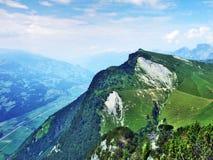 Tschugga peak or Tschugga Spitz in the Appenzell Alps mountain range. Canton of St. Gallen, Switzerland stock image