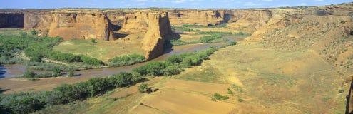 Tsegi overziet, Canyon DE Chelly National Monument, Arizona Stock Afbeeldingen
