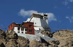 Tsemo monastery close up Royalty Free Stock Images