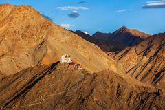 Tsemo Victory Fort, Namgyal Tsemo Gompa Leh, Ladakh, Jammu Fotografia Stock