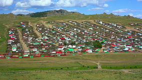 Tsetserleg City, Mongolia stock footage