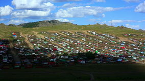 Tsetserleg City, Mongolia, timelapse stock footage