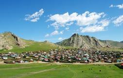 Tsetserleg town in Mongolia Stock Image