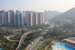 tseung kwan O,香港的天时间 库存照片