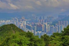 Tseung kwan O from Razor Hill Stock Photo