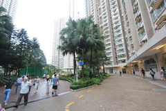 Tseung Kwan O street view in Hong Kong Royalty Free Stock Photos