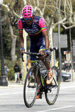 Tsgabu Gebremaryam Grmay of Lampre-Merida. Rides during the Tour of Catalonia cycling race through the streets of Monjuich mountain in Barcelona on March 29 Stock Image