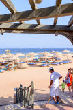 TSharm El Sheikh,Egypt,28 July 2015:ourists at a tropical seaside resort Stock Photo