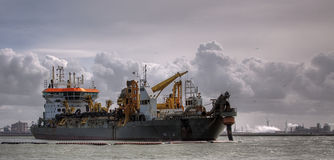 TSHD Oranje. A Trailing suction hopper Dredger from Boskalis Royalty Free Stock Photos
