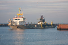 TSHD Shoreway em Scheveningen fotos de stock royalty free