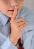 Tshhh whisper. I know the secret Stock Image