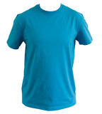 Tshirt azul Fotos de Stock Royalty Free