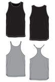 Tshirt basic model no-sleeve. Royalty Free Stock Image