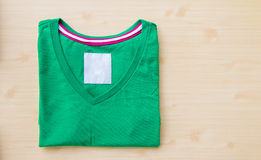 Tshirt. Close up green tshirt on a white background Royalty Free Stock Images