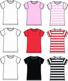 Tshirt collection. In different colours Royalty Free Stock Image