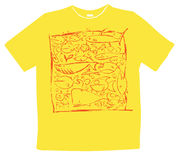 Tshirt design. Is covered with drawings of fish Royalty Free Stock Photography