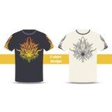 Tshirt Design Abstract Marijuana Royalty Free Stock Image
