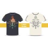 Tshirt Design Abstract Mushroom Three Stock Photos