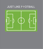 Tshirt design - just like football Royalty Free Stock Photography