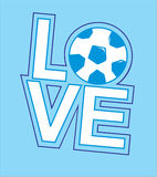 TSHIRT DESIGN - love ball Stock Images
