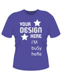 Tshirt design with text stock illustration