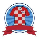 Tshirt do futebol do tshirt do futebol da Croácia ilustração royalty free
