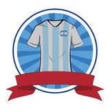 Tshirt do futebol do tshirt do futebol de Argentina ilustração royalty free