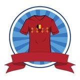 Tshirt do futebol do tshirt do futebol de Bélgica ilustração do vetor