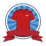 Tshirt do futebol do tshirt do futebol de Dinamarca ilustração royalty free