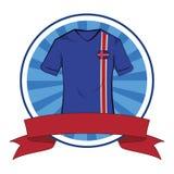 Tshirt do futebol do tshirt do futebol de Isl?ndia ilustração stock