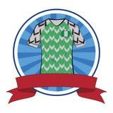 Tshirt do futebol do tshirt do futebol de Nigéria ilustração do vetor