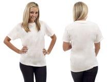 Tshirt em branco Imagens de Stock Royalty Free