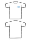 Tshirt em branco ilustração royalty free