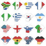 Tshirt flags Stock Image