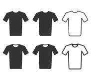 Tshirt icon set isolated on white background. Vector illustration. Stock Photography