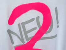 Tshirt of Neu group in Duesseldorf Stock Image