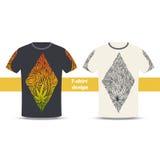 Tshirt projekt Trzy Zdjęcie Stock