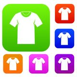 Tshirt set collection Royalty Free Stock Image