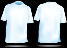 TShirt ,shirt front and back with mesh. In blue Stock Photo