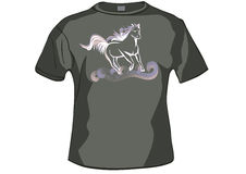 TShirt ,shirt front with horse Stock Image