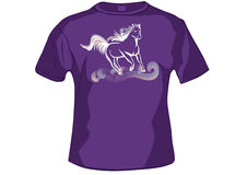 TShirt ,shirt front with horse Royalty Free Stock Images