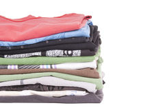 Tshirt Stack Isolated Royalty Free Stock Photo