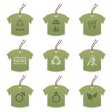 Tshirt tags with motifs Royalty Free Stock Photo