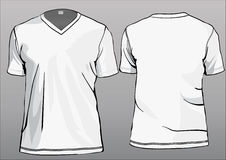TShirt template with V-neck