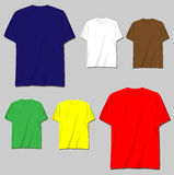 tshirt templates Royalty Free Stock Photos