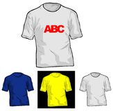 TShirt Templation. Color and White TShirt Templates. Vector Illustrate. No Meshes Royalty Free Stock Images