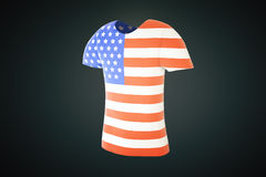 Tshirt usa flag side Stock Photos