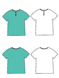 Tshirt vazio Fotografia de Stock Royalty Free
