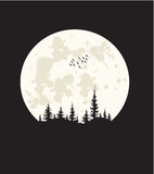 Tshirtdesign - måneljus Arkivfoto